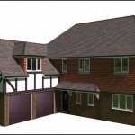 Proposed Extension for a Barn End Tile hung property in Sussex