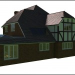 Tudor style visual created to help gain Planning Permission