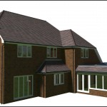 Architectural Design for a flat roof extension, complete with lantern