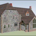 Architectural Design for a flint built home in Worthing, Sussex