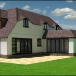 Rear view of a west chiltington property development
